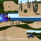 Sand Dune Kit with Cacti gives out drivable dune cars