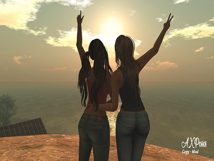 Friends sunset [AX Poses]