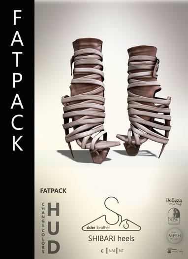 [sYs] SHIBARI heels (body mesh) - FATPACK