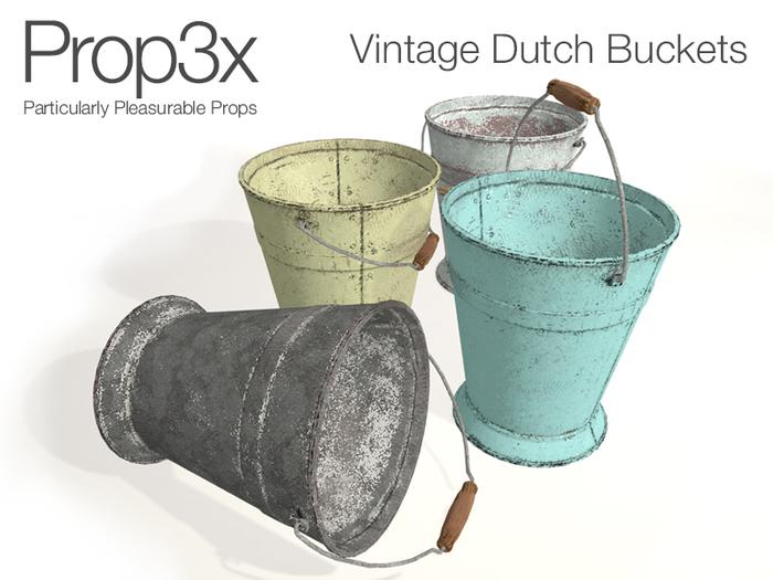 Prop3X Vintage Dutch Buckets