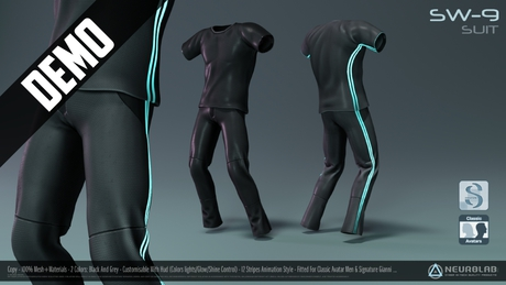 *DEMO* SW-9 SUIT for Men (FITTED) [Neurolab Inc.]