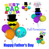 [ FULL PERM ] Balloon - Happy Father's Day