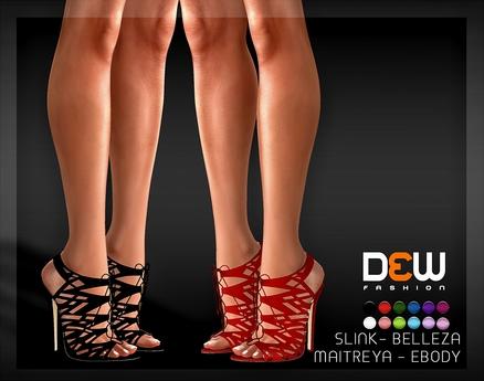"""DEW"" Sally Heels /MAITREYA/SLINK/BELLEZA/EBODY"