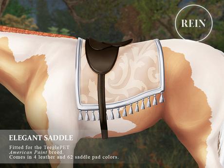 REIN - TeeglePet Elegant Saddle AMERICAN PAINT