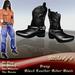 *Milady's* -Irony- Black Leather Biker Boots