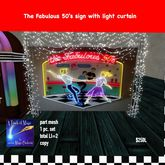 The Fabulous 50's neon sign with lights curtain-crate