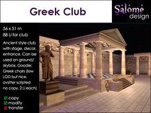 Greek Club - multipurpose building for venues