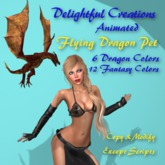 Animated Flying Dragon Pet, Attachment, Bagged