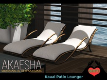 Outdoor Pool and Patio Recliner / Lounger (Style: Kauai) Bento Animations