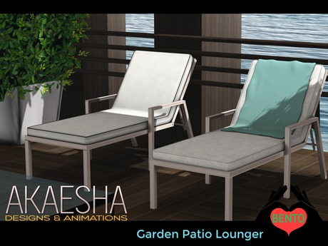 Outdoor Pool and Patio Recliner / Lounger (Style: Garden) Bento Animations