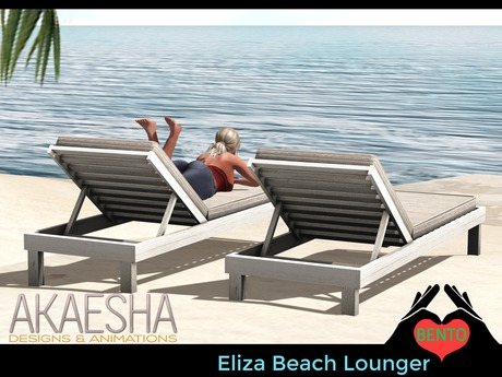 Outdoor Pool and Patio Recliner / Lounger (Style: Eliza with Cushion) Bento Animations
