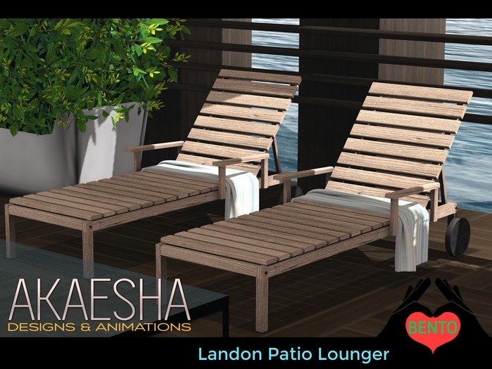 Outdoor Pool and Patio Recliner / Lounger (Style: Landon) Bento Animations