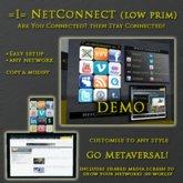 =I= NetConnect Panel (Low Prim)  v1.0 DEMO