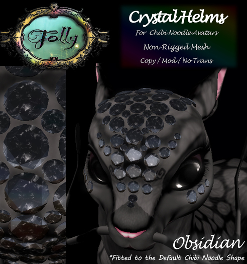 Folly - Crystal Helm for Noodles - Obsidian
