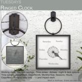 Tuesdays Ringed Clock