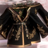 Eliavah ~ Rafflesia Dress [BLACK GOLD] (Maitreya, Slink Hourglass, Belleza Isis & Freya)