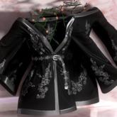 Eliavah ~ Rafflesia Dress [BLACK SILVER] (Maitreya, Slink Hourglass, Belleza Isis & Freya)