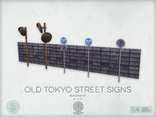 Old Tokyo Street Signs Kit