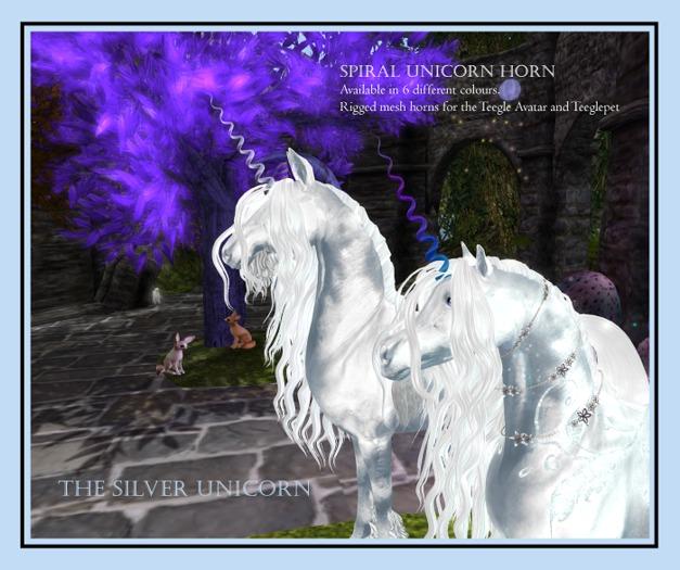 The Silver Unicorn - Spiral Unicorn Horn