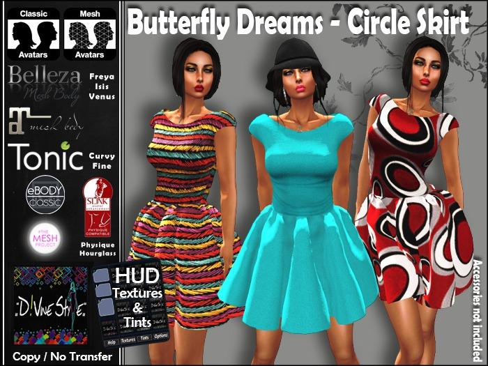 :: D!vine Style :: Butterfly Dreams - Circle Skirt Dress