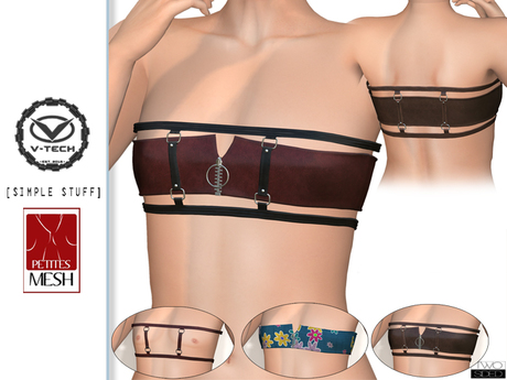 """Top """"Ges G"""" TwoSided for flat-chest V-tech + Slink Petite + Simple Stuff"""