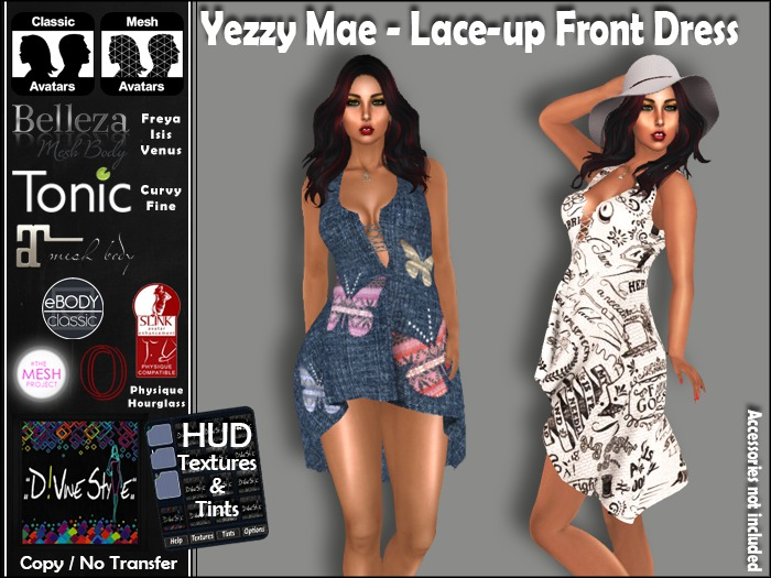 :: D!vinie Style :: Yezzy Mae - Lace-up Front Dress
