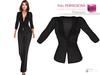 FULL PERM MAITREYA Ladies Buttoned Formal Black Business Jacket Blazer