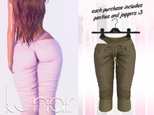Lunar - Luna Pants & Panties - Khaki (Boxed)