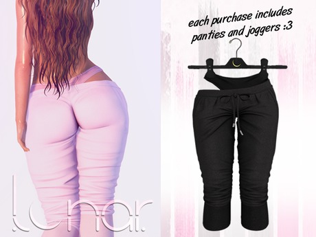 Lunar - Luna Pants & Panties - Black (Boxed)