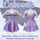 Caboodle - Fae Dress - Holo Purple (1L GIFT) (MAITREYA, SLINK, BELLEZA FREYA)