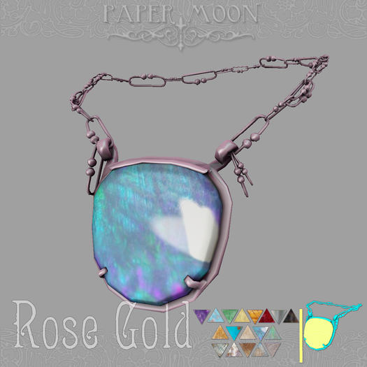 *pm* Necklace of Da'at - Rose Gold
