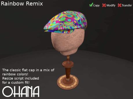 Ohana Flat Cap Rainbow Remix