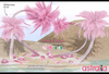 Astralia - Tropical palms pack (pink)