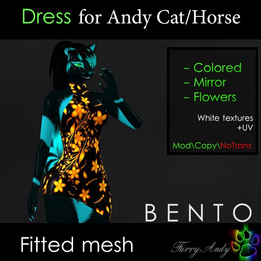 Furry Andy - Dress for Andy Cat/Horse