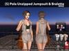[S] Pola Unzipped Jumpsuit & Bralette Beige