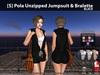 [S] Pola Unzipped Jumpsuit & Bralette Black