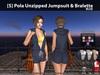 [S] Pola Unzipped Jumpsuit & Bralette Blue