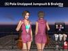 [S] Pola Unzipped Jumpsuit & Bralette Pink