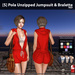 s  pola unzipped jumpsuit   bralette red ad