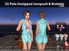[S] Pola Unzipped Jumpsuit & Bralette Cyan