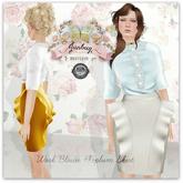 *{Junbug}* Peplum Skirt + Blouses Complete Set