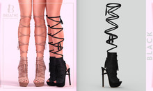 [BREATHE]-Lenora Heels-Black-(for Slink High Feet & Maitreya Lara & Belleza)