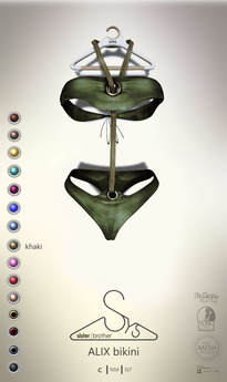 [sYs] ALIX bikini (body mesh) - khaki GIFT <3