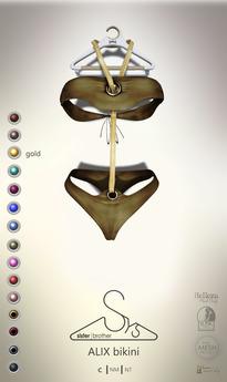 [sYs] ALIX bikini (body mesh) - gold
