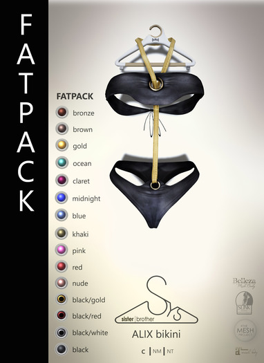 [sYs] ALIX bikini (body mesh) - FATPACK