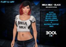 F&L - Croptop - Mega Milk -  Black