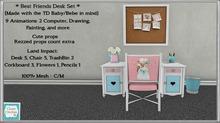 *CC* TD Baby/Bebe *Best Friends Desk Set* [boxed]