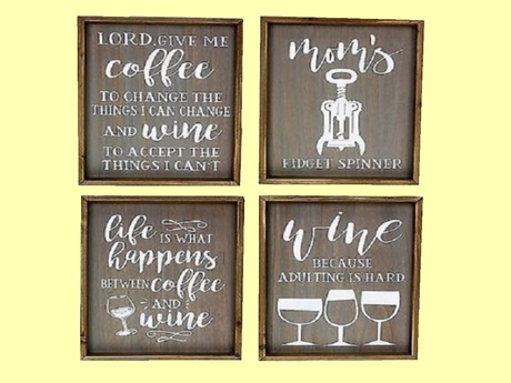 Wine Wood Wall Art Funny Vintage Kitchen Sign Hanging Dining Room Decoration