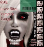 ::Foxy Fashions:: Love Bites Sculpted Vampire Fangs (Retractable)