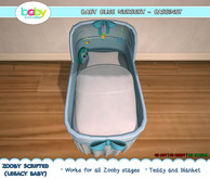 BabyBundles Baby Blue Nursery - Bassinet (Zooby Scripted)